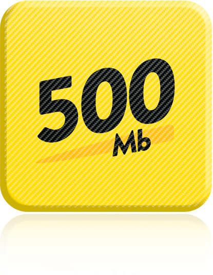 Guaranteed 500Mb Download & 200Mb Upload